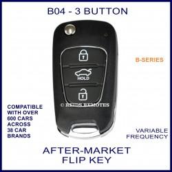 B04 black 3 button B-Series standard transmitter flip-key