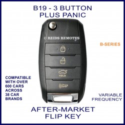 B19 black 3 button plus PANIC B-Series standard transmitter flip-key