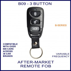 B09 black 3 button B-Series standard transmitter remote
