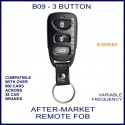 B09 black 3 button B-Series standard transmitter remote