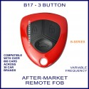 B17 red 3 button B-Series standard transmitter remote