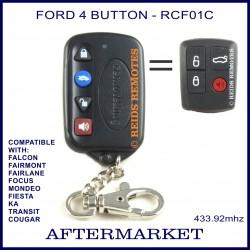 Ford compatible superslim 4 button remote for BA, BF, FG FALCON, Focus, Mondeo, Transit