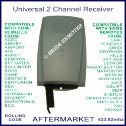 Universal 433.92Mhz 2 channel add on receiver