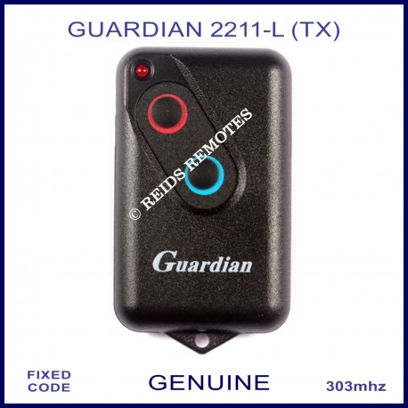 Guardian 2211L (TX) 303Mhz 2 button garage door remote