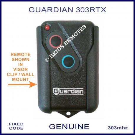 Guardian 303rtx 303mhz 2 Button Garage Door Remote