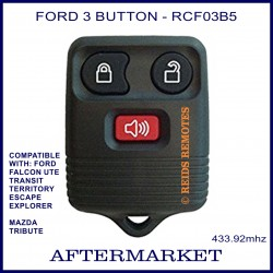 Aftermarket Ford 3 button remote for FALCON Ute, Territory, Escape, Transit