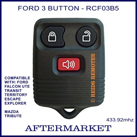 Aftermarket Ford 3 button remote for FALCON Ute, Territory, Escape, Transit