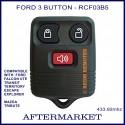 Aftermarket small Ford 3 button remote for FALCON Ute, Territory, Escape, Transit