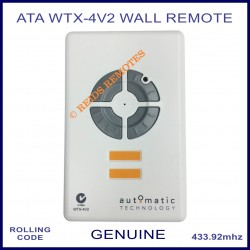 ATA WTX-4V2 4 button wireless garage wall remote