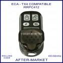 ECA - aftermarket replacement garage & gate remote RRPC412