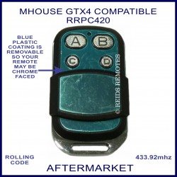 MHouse GTX4 compatible gate remote RRPC420