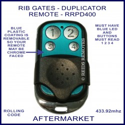 RIB gates duplicator remote with 4 chrome buttons RRPD400
