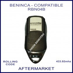 Beninca compatible 433.92Mhz 4 button remote control RBN04B