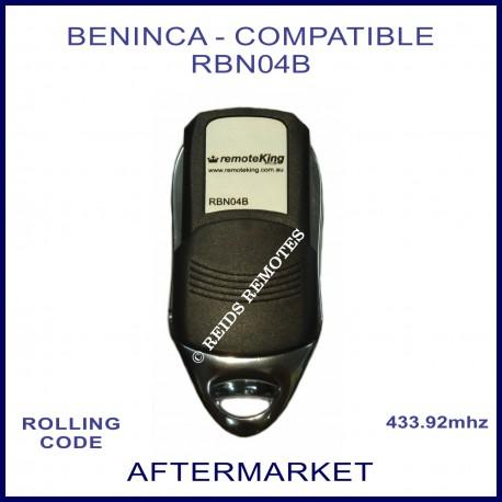 Beninca compatible 433.92Mhz 4 button remote control RBN04B
