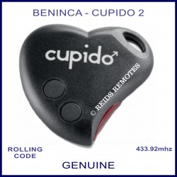 Beninca Cupido 2 genuine 2 button black gate remote