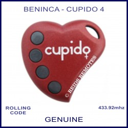 Beninca Cupido 4 heart shaped 4 button red gate remote