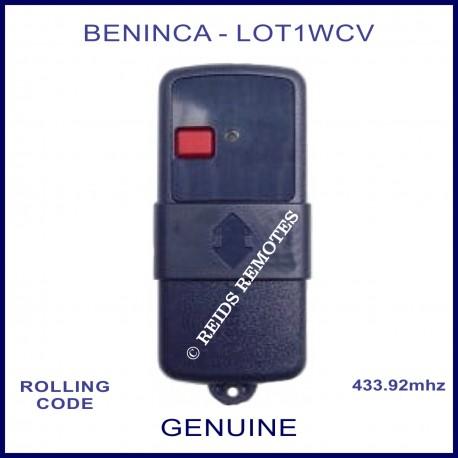 Beninca Lot 1 WCV navy blue gate remote 1 red button