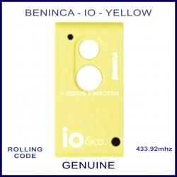 Beninca io genuine 2 button yellow & white gate remote
