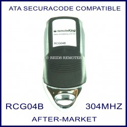 ATA 304Mhz PTX4 green button remote aftermarket replacement RCG04B