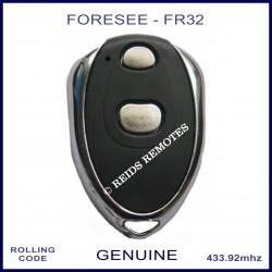 Foresee FR32 2 button black & chrome garage door remote