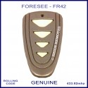 Foresee FR42 4 white button grey garage and gate remote