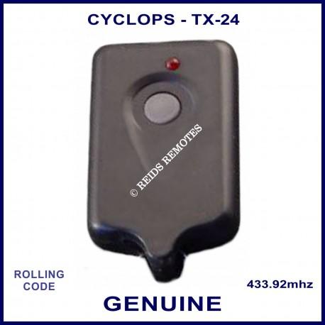 Cyclops TX-24 1 grey button car alarm remote