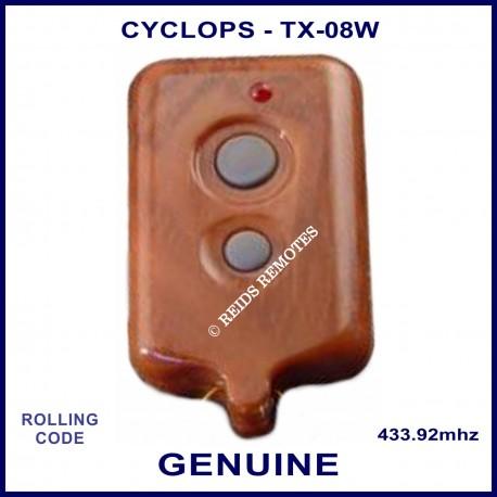 Cyclops TX-08 2 grey button wood grain car alarm remote