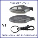 Cyclops TX-11 black remote replacement shell only