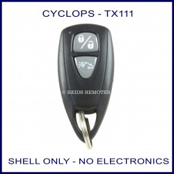Cyclops TX-111 black 2 button remote replacement shell ONLY