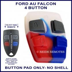 Ford AU2 & AU3 Falcon 4 button remote BUTTON PAD ONLY