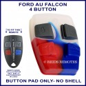 Ford AU2 & AU3 Falcon 4 button remote BUTTON PAD ONLY