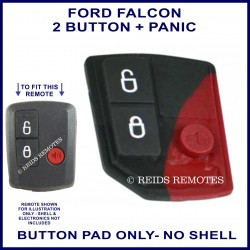 Ford Falcon BA BF 3 button remote BUTTON PAD ONLY