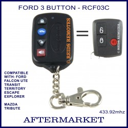 Ford compatible superslim 4 button remote for BA, BF, FG FALCON UTE & Territory
