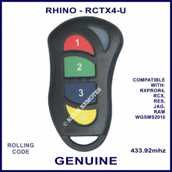 Rhino RCTX4 red, green, blue & yellow button car alarm remote