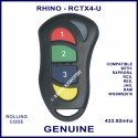 Rhino RCTX4 red, green, blue & yellow button alarm remote