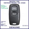 Mazda 3 BK series 1, 2003 - 2006, Visteon 41835 genuine 2 button remote control