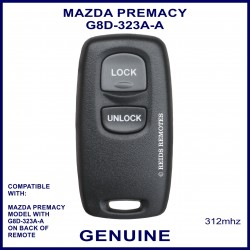 Mazda Premacy G8D-323A-A, 2 button genuine remote control
