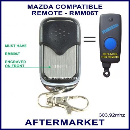Mazda compatible 4 button chrome remote control RMM06T