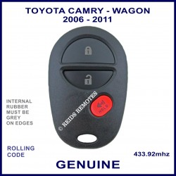Toyota Camry Wagon 2006 - 2011 3 button genuine remote control