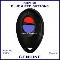 Suzuki obsolete red & blue button black oval remote control