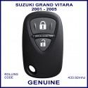Suzuki Grand Vitara 2001 - 2005 2 grey button remote control
