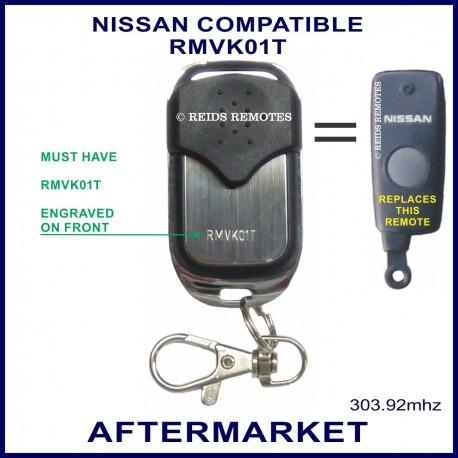 Nissan compatible 4 button chrome remote control