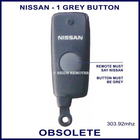 Nissan obsolete 1 grey button black remote control