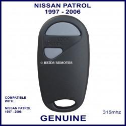 Nissan Patrol 1997 - 2006 2 grey button 315 MHz remote control