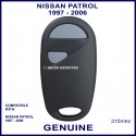 Nissan Patrol 1997 - 2006 2 grey button 315 MHz remote control