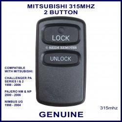 Mitsubishi Challenger, Nimbus & Pajero 2 button genuine remote