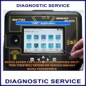 Diagnostic car key or remote programming service