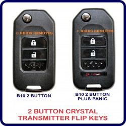 Generic 2 button crystal transmitter flip-key options