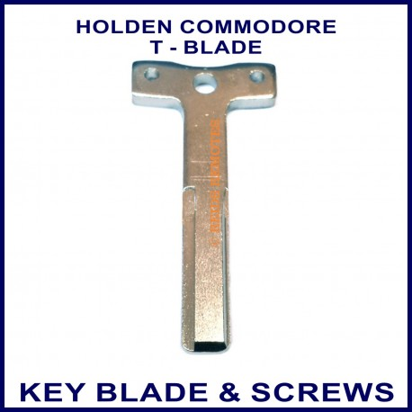 holden commodore vr vz replacement t shaped key blade and 2 screws