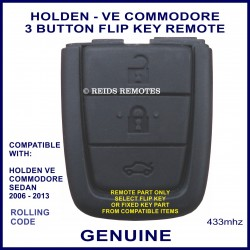Holden VE Commodore 2006 - 2013 genuine 3 button flip key remote part